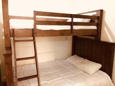 Queen Bed & Bunk Bed